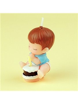 New Arrival Dear Baby Making a Wish Candle