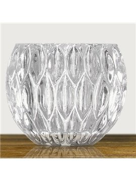 High-Grade Lead-Free Crystal Glass Small Candles Holder