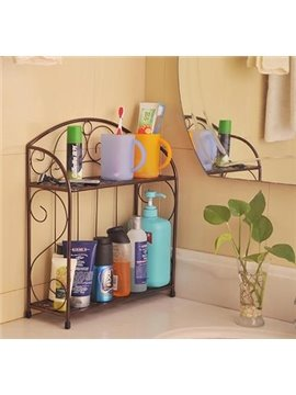 Wonderful Concise Iron Double Layers Bathroom Shelf