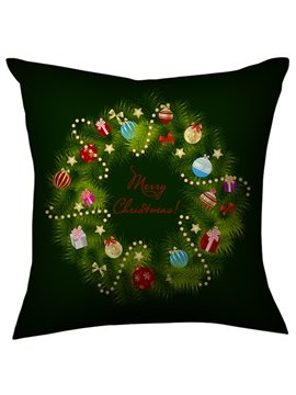 Gorgeous Black Christmas Decorations Circle Throw Pillow