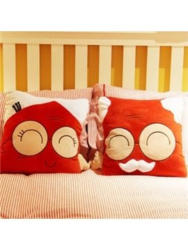 Creative Joyous One Old Couple Pattern Bed Pillow