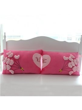 Romantic Fluff Heart Shape Balloons Wedding Bed Pillow
