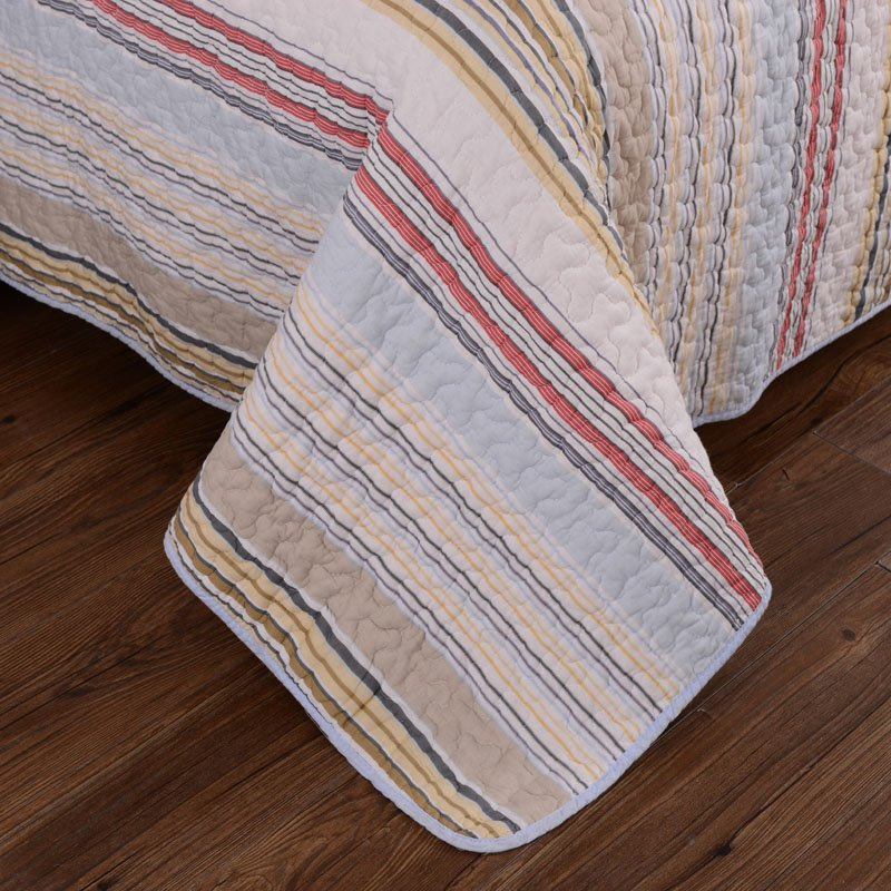 Thicken Colored Stripes Pattern 3-Piece Bed in a Bag Set