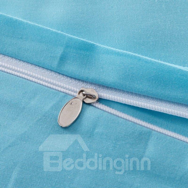 Top Quality Korean Style Concise Floral Design 4-Piece Duvet Cover Sets
