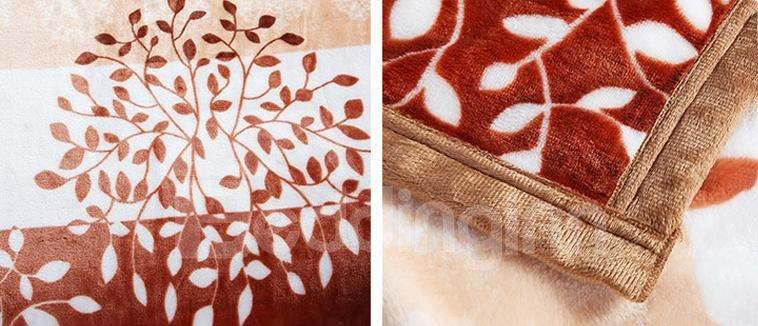 Gorgeous Fresh Pachira Macrocarpa Pattern Flower Blanket
