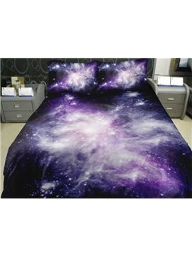 Charming Purple Shining Star Print 4-Piece Duvet Cover Sets