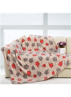 High Quality Coffee and Red Sheep Pattern Animal Print Blanket