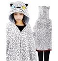 Creative Snow Leopard 3D Panther Pattern Cape and Blanket