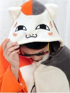 Super Lovely White and Orange Cat Pattern Skincare Blanket