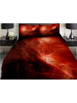 Wonders of Universe Print 4-Piece Duvet Cover Sets