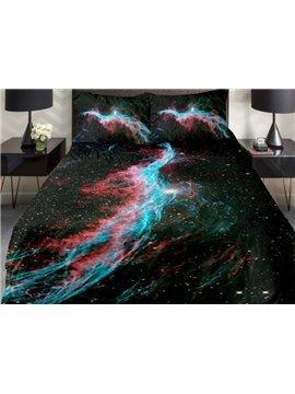 Colorful Star River in Darkness Print 4-Piece Duvet Cover Sets