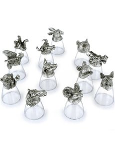 The Small Size Twelve Zodiac Liquor Glasses Cup Set