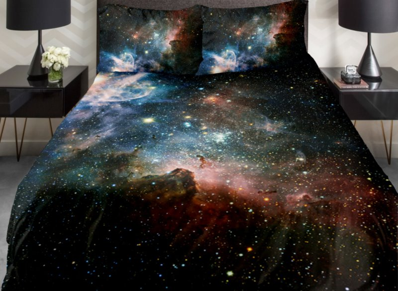 Magical Galaxy and Shining Star Print 4-Piece Duvet Cover Sets