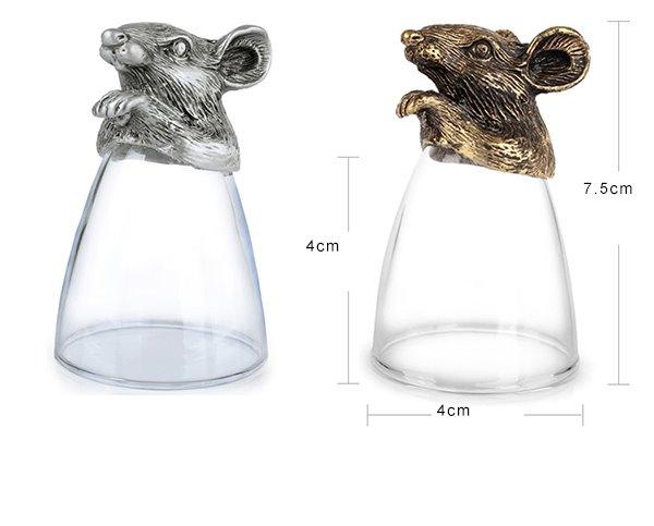 The Large Size Twelve Zodiac Liquor Glasses Cup Set