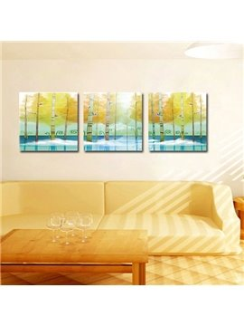 New Classic 3-Pieces of Crystal Film Art Wall Print