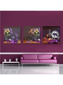 Wonderful Pretty 3-Pieces of Crystal Film Art Wall Print