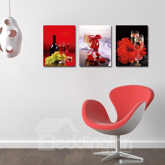 Popular Pretty 3-Pieces of Crystal Film Art Wall Print