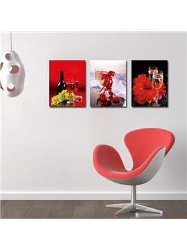 Popular Pretty 3-Pieces of Crystal Film Art Wall Print