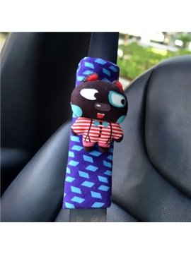 Super Lovely Entangled Rabbit Blue Car Seat Belt Cover