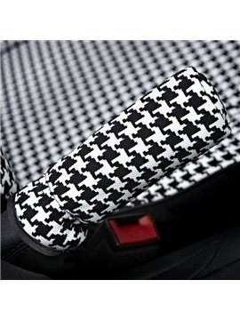 New Style Black and White Pattern Hand Brake Cover