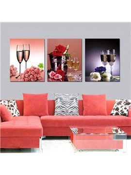 Beautiful Fantastic 3-Pieces of Crystal Film Art Wall Print