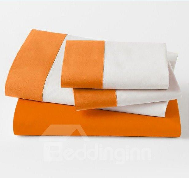 New Arrival 100% Cotton Satin Drill 4-Piece Duvet Cover Sets