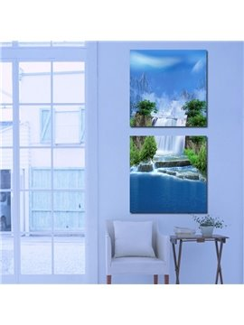 Fantastic Wonderful 2-Pieces of Crystal Film Art Wall Print