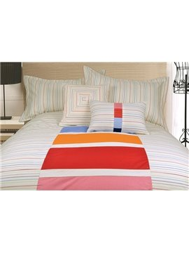 Top Selling Concise Style 100% Cotton 4-Piece Duvet Cover Sets