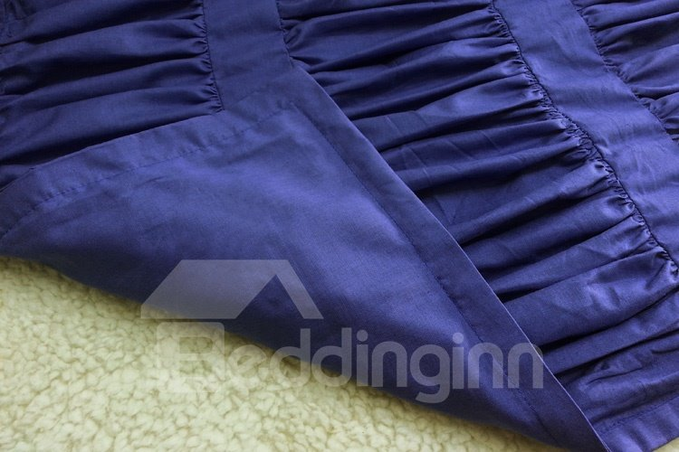 New Arrival Solid Color Wrinkled Cotton Lace Duvet Cover Sets