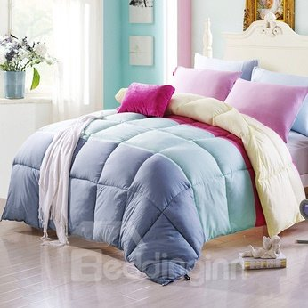 Super Soft and Comfortable Four Colors Pattern Quilt