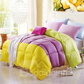Super Soft Comfortable Bright Color Pattern Quilt