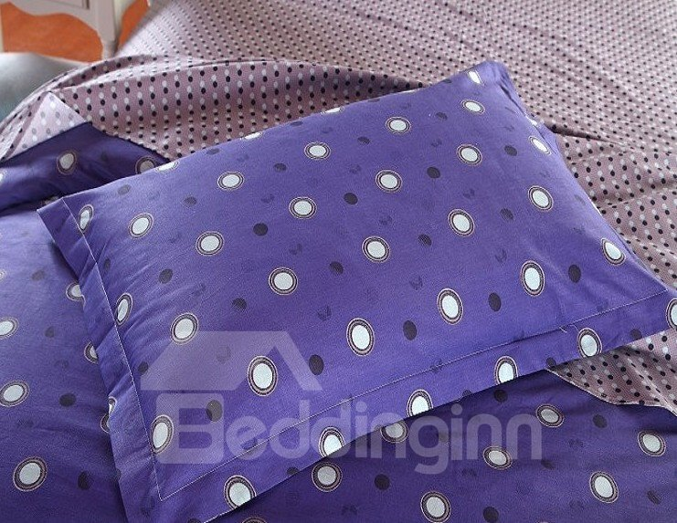 Black And White Polka Dot With Blue Background Reversible