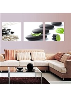 Wonderful Simple 3-Pieces of Crystal Film Art Wall Print