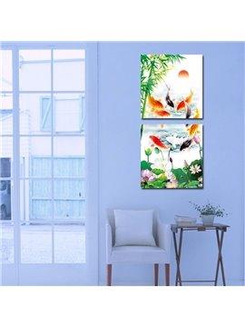 Beautiful Goldfish 2-Pieces of Crystal Film Art Wall Print