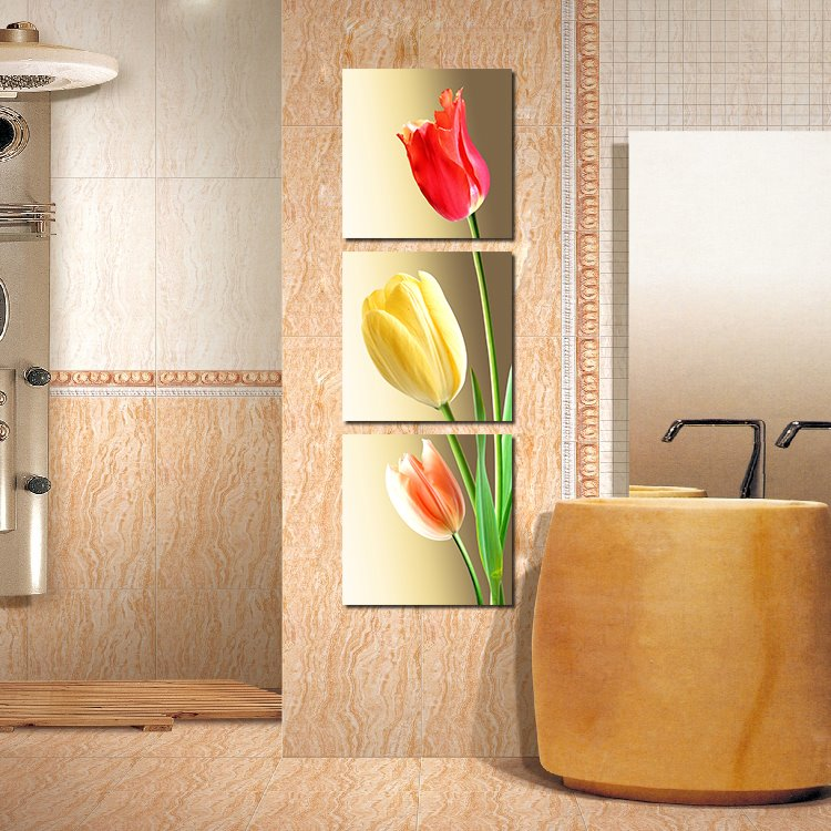Fantastic Tulips 3-Pieces of Crystal Film Art Wall Print