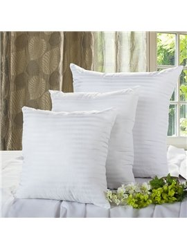 High Quality PP Cotton Pure White a Pair Throw Pillow
