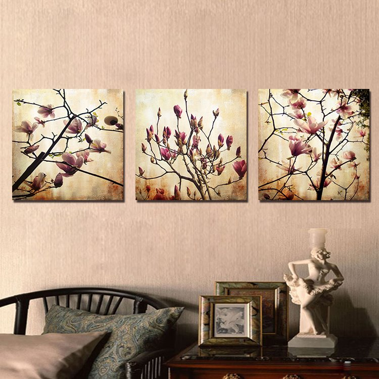 Pretty Jade Orchid 3-Pieces of Crystal Film Art Wall Print