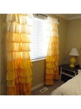 New Home Fashion Vibrant Color Falbala Customize Cotton Curtain