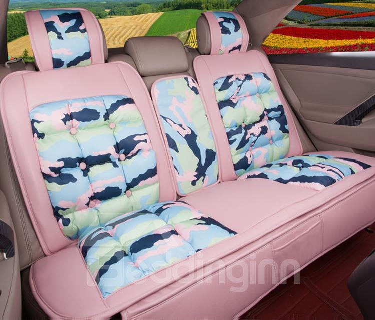 Super Soft And Warm Down Feather Material Pattern Print Car Seat Cover