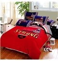 Thickening 100% Combed Cotton Reactive Printing 4-Piece Duvet Cover Sets