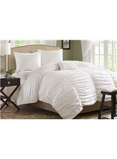 New Arrival 100% Cotton Pure White Lace Duvet Cover Sets