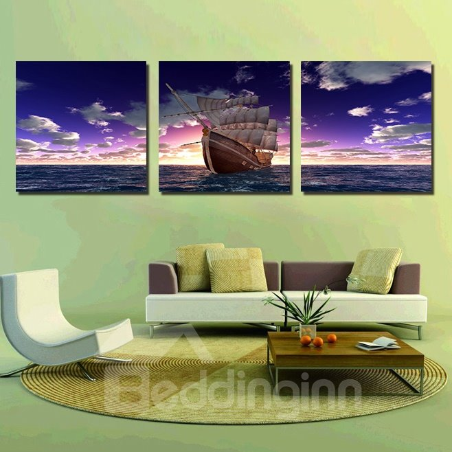 High Quality Amazing 3-Pieces of Crystal Film Art Wall Print