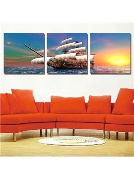 Beautiful Amazing 3-Pieces of Crystal Film Art Wall Print