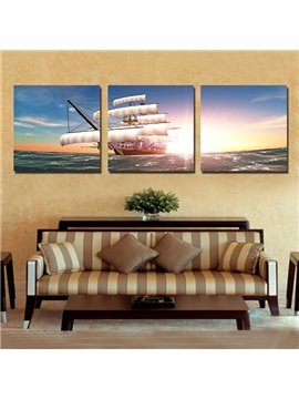 Best Selling Bright Sun 3-Pieces of Crystal Film Art Wall Print