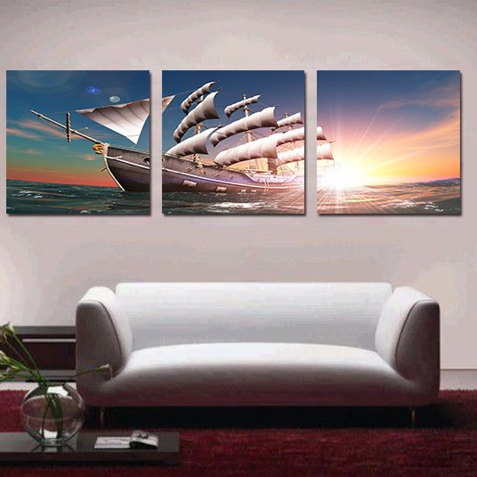 New Arrival Amazing 3-Pieces of Crystal Film Art Wall Print