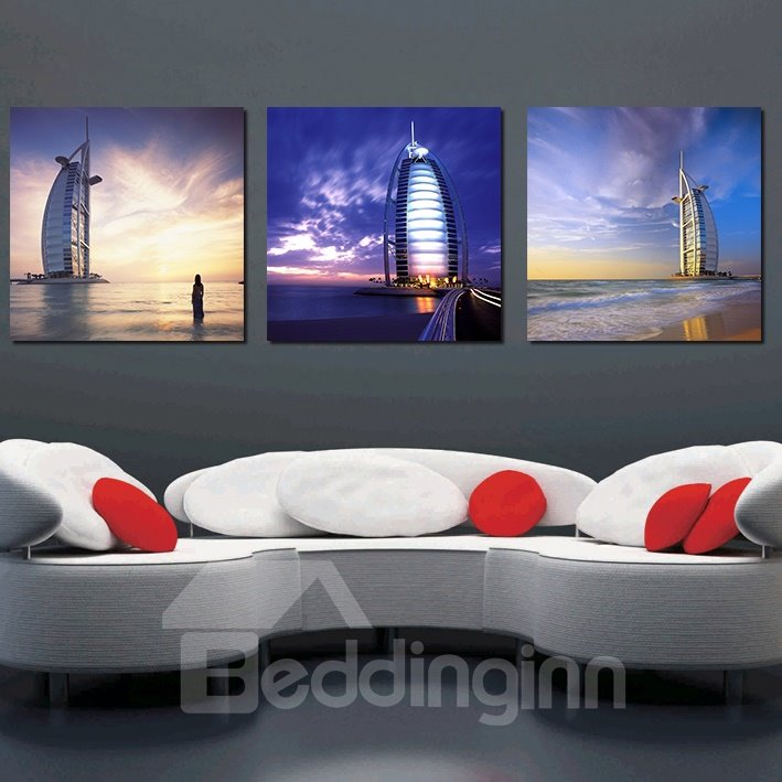 New Stype Pretty 3-Pieces of Crystal Film Art Wall Print