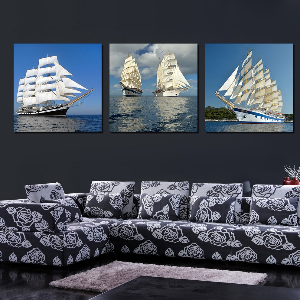 Best selling new stype 3 pieces of crystal film art wall for Best way to sell art prints