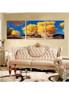 Top Selling Pretty Trees 3-Pieces of Crystal Film Art Wall Print