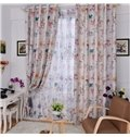 Hot Selling Pretty Flowers in Vase Pattern Custom Made Curtain