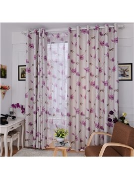 New Home Fashion Simple Style Floral Pattern Custom Made Curtain